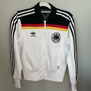 Adidas trefoil classic track jacket Germany 1974 Retro World Cup Mens 40 Small