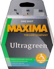 Maxima ULTRAGREEN One Shot Fishing Line 15lbs 15Lb 300m 0.37mm NEW