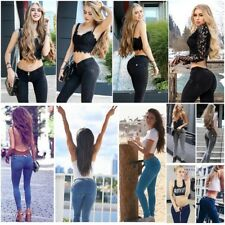 Sexy Push Up Denim Blue Jeans Femme Skinny Ladies Sexy Strechy Low Rise Pants