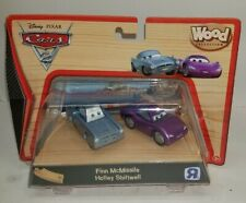 Disney Pixar Cars 2 Wood Collection 2011 Toy R Us finn mcmissile holleyRare Set