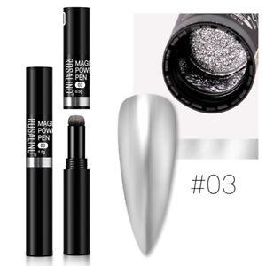 Maniküre Nail Art Magic Chrome Spiegeleffekt Glitter Powder Pigment Pen 1St