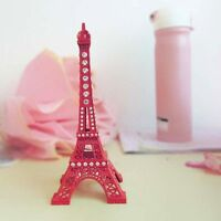 18cm Alloy Rhinestone Paris Eiffel Tower Miniature Statue Model Decoration 1PC