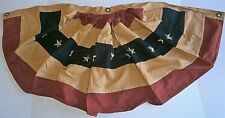 """PRIMITIVE BUNTING 20"""" X 40""""  100% Cotton 3 Metal Grommets for Hanging"""