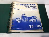 HONDA OEM V30 MAGNA VF500C SHOP MANUAL IN BINDER 1984-1985