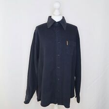 Armani Jeans Navy Blue Thick Long Sleeved Casual Shirt - Size Large