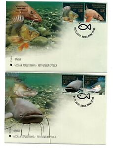 Bosnia-Republic of Srpska 2019 fauna fish set FDC