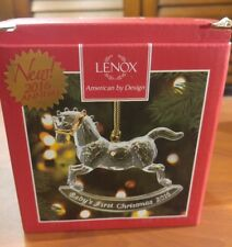 Lenox 2016 Baby's First Christmas Rocking Horse Crystal Ornament