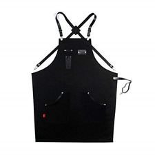 Heavy Duty Tool Apron, Canvas Work Apron for Men Women, Adjustable Woodworking