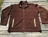Patagonia Synchilla Brown Fleece Jacket Sweater Full Zip Mens Size XL