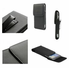for Nokia Lumia 610 Case Metal Belt Clip Synthetic Leather Vertical Premium