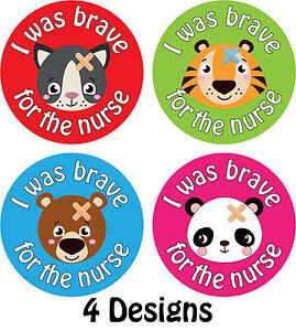 144 x 'I Was Brave For The Nurse' Bravery Reward Stickers Nurses Hospitals