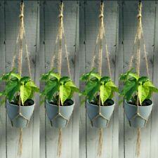 QLD stock ...4pcs x LARGE Macrame style Rope Pot plant hanger - NEW