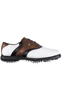 c/o Mens FootJoy 45330 Originals White/Brown/Black Golf Shoes