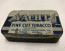 YACHT TOBACCO TIN. ASSOCIATED TOBACCO MANUFACTURERS LTD BRISBANE AUSTRALIA.