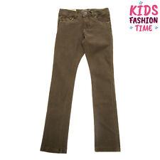 Name It Trousers Size 8Y / 128 Cm Garment Dye Worn Look Adjustable Waist Slim