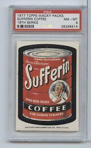 1977 Topps Wacky Packs Sufferin Coffee 16th Series PSA 8