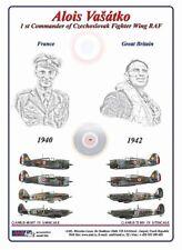 AML D72051 Decals 1/72 Alois Vašátko Hawk Hurricane & Spitfire (8)