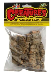 Zoo Med Creatures Natural Cork Cork Bark Brown   Free Shipping
