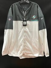MIAMI DOLPHINS TEAM ISSUED WHITE ZIP NIKE JACKET NEW W/TAGS 100.00 RETAIL WOW