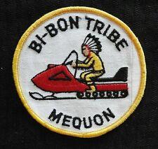"New listing c.1972 ""Bi-Bon Tribe Snowmobile Club"" Ozaukee Couty Mequon Wi Wisconsin Patch"