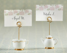 6 Tea Party Place Card Holders Teapot Teacup Bridal Shower Table Decor MW36765