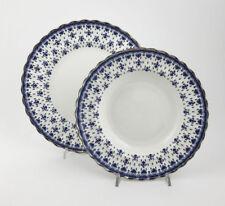 49/Bluefleurdelysplatinumpt Spode Blue Fleur piatto piano piatto fondo De Lys Pl