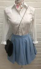 New Zara Woman Mini Skirt Flare XS Powder Baby Blue Summer Party