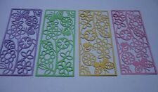 Floral Frame Card Topper, Card Panel, Scrapbook Embellishments Die Cuts x 4