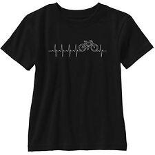 I Live For Biking Short Sleeve T Shirt Gildan Bicycling Road Bike Heartbeat