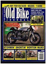 OLD BIKE JOURNAL MAY 1999 NORTON MANX HONDA CB350 STRANGE INDIAN TRIKE FORK FIX