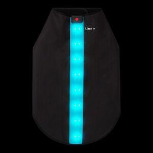 Waterproof Rechargeable LED Dog Coat Hi Vis Reflective Vest Safety Jacket Pet