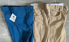 Smartpak Piper Knit Silicone Knee Patch Breeches, 26R, 2xTan/1xBlue, New