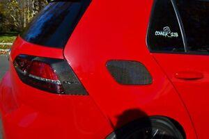 Real Carbon Fiber fuel door cover overlay trim Fit Volkswagen Golf + GTI mk7