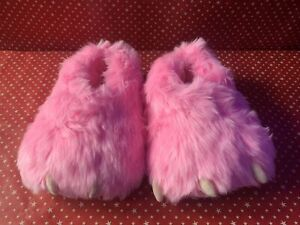 3D Novelty Pink Monster Slippers. Unisex. BNIB. Home. Gifts, Lounge