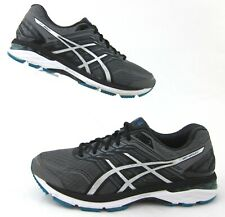 Asics GT-2000 V5 Running Shoes Carbon/Silver/Island Blue 10.5 2E Fits US 10 2E