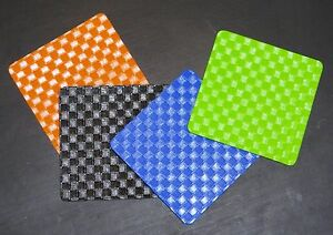 Free Postage. Classic Square Eco Coaster,6pcs.Wipe Clean,Waterproof, In/Outdoors