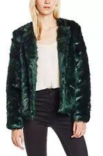 YUMI Faux Fur Coat - Emerald Green UK Size 16