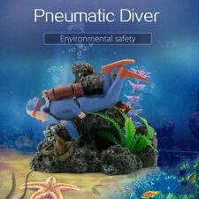 Aquarium Ornament Resin Treasure Diver Dive Rock Fish Tank Landscape Decoration