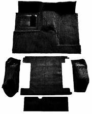 ACC 1966-1973 FORD BRONCO BLACK LOOP COMPLETE MOLDED CARPET RUG - 2 GAS TANKS