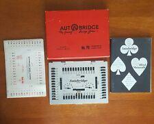 Vintage Autobridge Auto Bridge Deluxe Pocket Model Game 1950+Box & Instructions