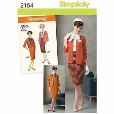 634e98513a Misses Petite 1960s Retro Size U5 16 - 24 Simplicity Sewing Pattern 2154