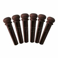 6 pieces Rosewood Premium Bridge Pin Set for Acoustic Guitar String Pegs