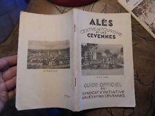Ales et les Cévènnes  Ancien Guide Touristique Années 1934