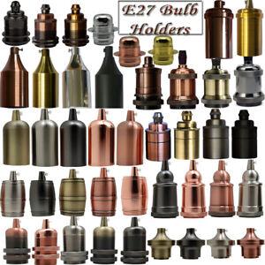 Vintage Industrial Lamp Light Bulb Holder Antique Retro Edison  E27 Fitting UK
