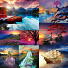 DIY Paint By Number Kit Digital Oil Painting Wall Home Decor Sunset Glow Scenery