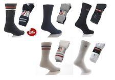 Mens Multi Pack Sports White Black Colored Stripe Kensington Washington Socks
