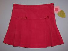 "Gymboree girls ""TEACHERS PET"" sz 6 skort...pink/coral velveteen...pleated"