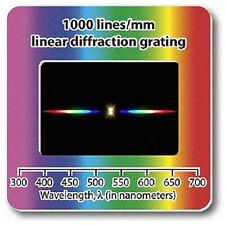 Diffraction Grating Slide Holographic Linear 1000 lines/mm Lamp Laser Spectrum