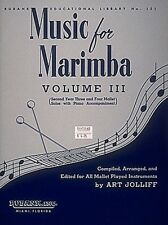 Music for Marimba Volume III Intermediate 3- and 4-Mallet Solos with P 004471160