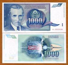 Yugoslavia, 1000 Dinara, 1991, Pick 110, UNC > Blue Tesla